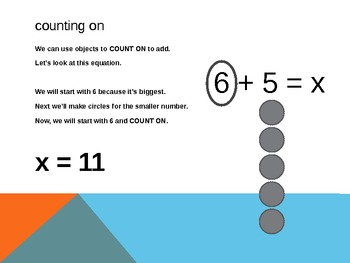 1.OA.5 Common Core First Grade Math - Relate Counting to Addition & Subtraction