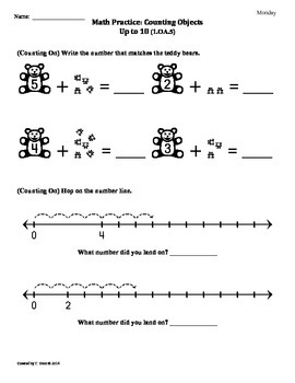 (1.OA.5) Counting On -1st Grade Common Core Math Worksheet