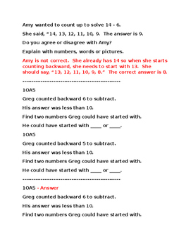 1OA5 Pre and Post Assessment Bank