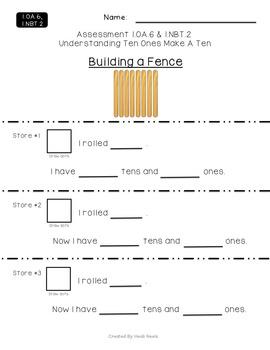 1.OA.6 & 1.NBT.2 Understanding 10 Ones Make A Ten Performance Assessment