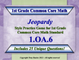 1.OA.6 1st Grade Math Jeopardy Game Fluently Add & Subtract Within 20