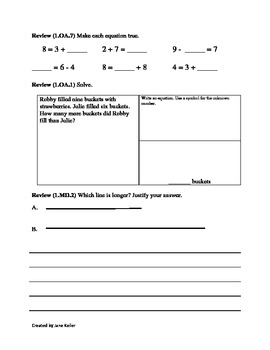 1.OA.6 Add and Subtract within 20 First Grade Common Core Math Worksheets