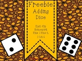 1.OA.6 Adding Dice Exit Slip Homework Printable FREEBIE