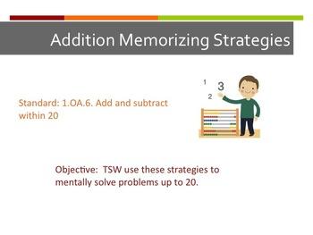 1.OA.6 Addition Memorizing Strategies