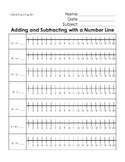 1.OA.6 Addition and Subtraction Counting On Practice with a Number Line