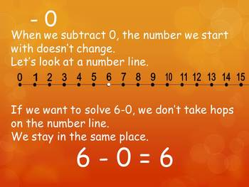 1.OA.6 Common Core First Grade Math Add & Subtract Fluently - Subtract 0, 1
