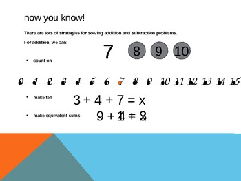 1.OA.6 Common Core First Grade Math - Adding and Subtracting Strategies