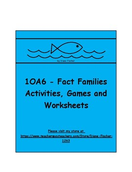 1OA6 - Fact Families - Activities, Games and Worksheets