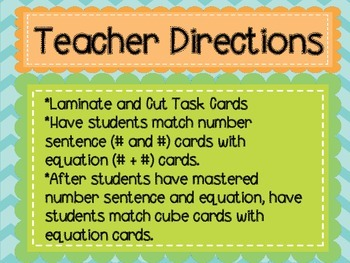 1.OA.6 K.OA.5 Intro to Addition Matching Game