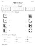 (1.OA.6) Make Ten Strategy -1st Grade Common Core Math Worksheets-2nd 9 Weeks
