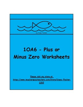 1OA6 - Plus or Minus Zero Worksheets