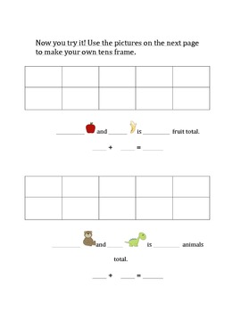 1.OA.C.6 Tens Frames with Number Sentences