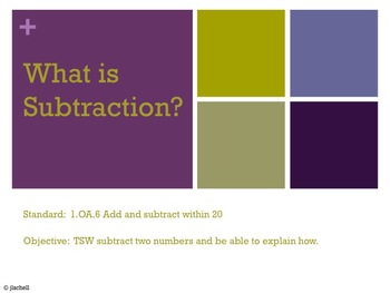 1.OA.6 What is Subtraction?