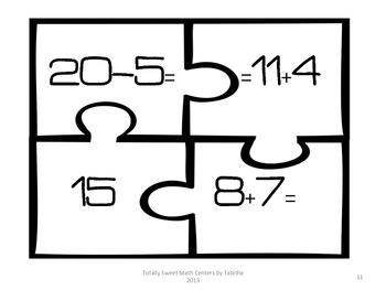 1.OA.7 Addition Puzzle Center Level 2