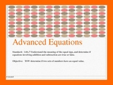1.OA.7 Comparing Advanced Equations (greater than, less th