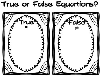 1.OA.7 True or False Activities for your math class