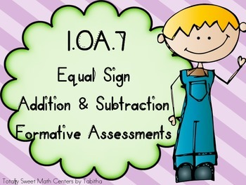 1.OA.7 Equal Sign Addition and Subtraction First Grade For