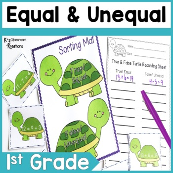 1.OA.7 Equal and Unequal Math Center