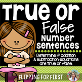 1.OA.7 True or False Number Sentence Activity