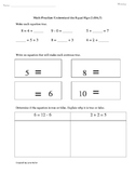 1.OA.7 Understand the Equal Sign First Grade Common Core Math Worksheet
