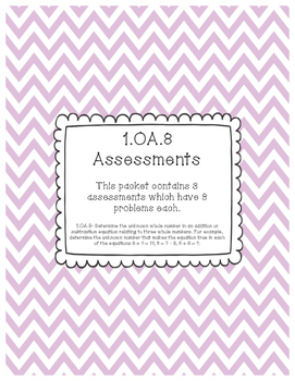 1.OA.8 Assessments