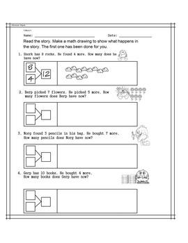 1.OA.A.1 Monster Math 1st Grade