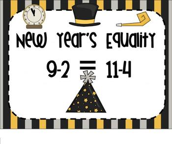 1.OA.D.7 New Year Equality of Equations