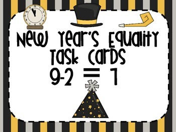 1.OA.D.7 New Year's Equality Task Cards