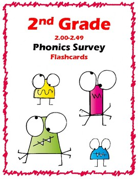 2nd Grade 2.00-2.49 Phonics Survey Cards (Aligned to American Reading Co IRLA)