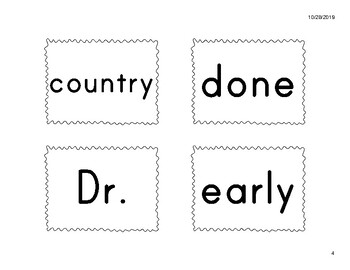 1R Power Word Cards (fit Pocket Charts) - American Reading Company (ARC) aligned