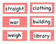 1R Tricky Words Flash Cards