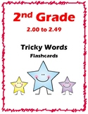2nd Grade 2.00-2.49 Tricky Words Flash Cards Aligned to American Reading Co IRLA