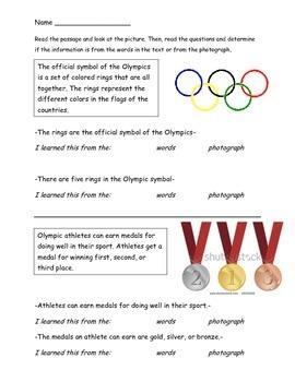 1.RI.6 Olympics-Themed Reading Passages