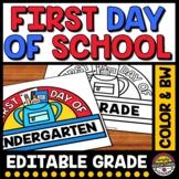 1ST DAY OF SCHOOL CRAFT CROWN ACTIVITY KINDERGARTEN PRESCH