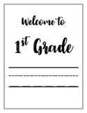 1ST GRADE | Bulletin Board Printables | Classroom Organization
