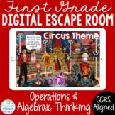 1ST GRADE Math Digital Escape Room Game Operations and Alg