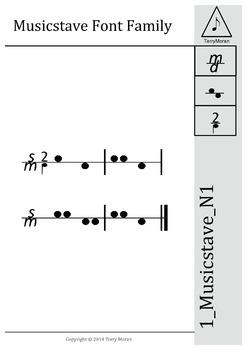 1_Musicstave_N1 Font - Site License