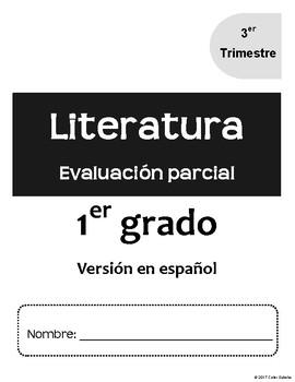 1er Grado. Evaluacion 3 de Literatura. Guía del maestro y clave de respuestas