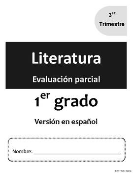1er Grado. Evaluacion v3.3 de Literatura. Guía del maestro y clave de respuestas
