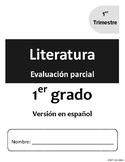 [Grade 1] [Español / Spanish] Literatura - Evaluación