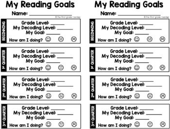 Reading Goal Sheets and Self-Assessing