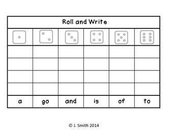 1st 100 Fry Roll & Write