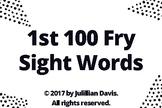 1st 100 Fry Sight Word List