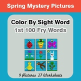 1st 100 Fry Words: Color by Sight Word - Spring Mystery Pictures