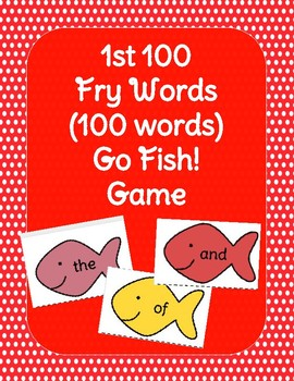 1st 100 Fry Words Go Fish Sight Word Game!