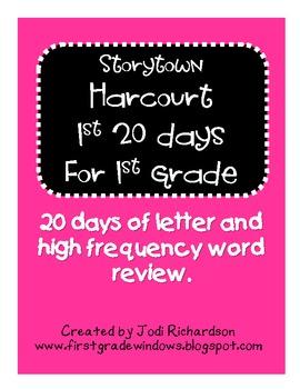 1st 20 Days Harcourt Storytown