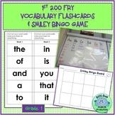 1st Grade FRY VOCABULARY CARDS +Smiley Bingo Game 1st 200