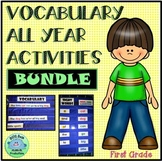 1st Grade VOCABULARY ALL YEAR Activities BUNDLE 1st 200 Fry Words