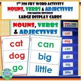 1st Gr FRY WORDS ACTIVITY  Nouns Verbs & Adjectives 1st 20
