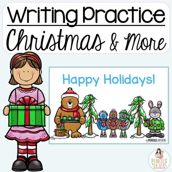 Christmas writing practice cards letters postcards writing center m4hsunfo